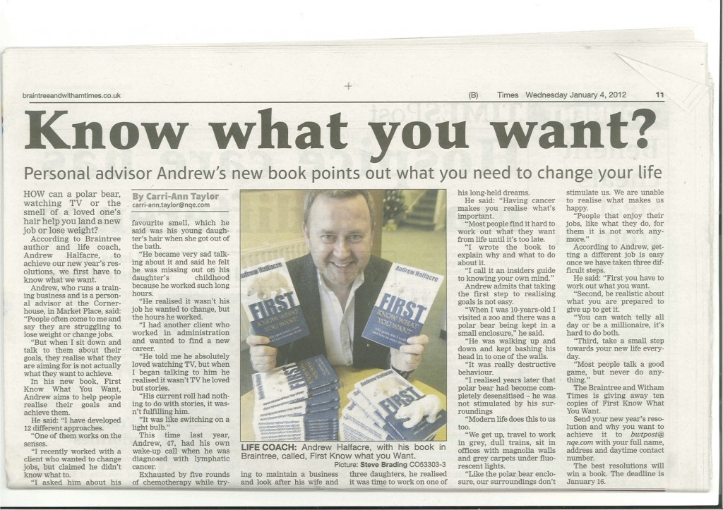 Press article from Braintree &amp; Witham Times