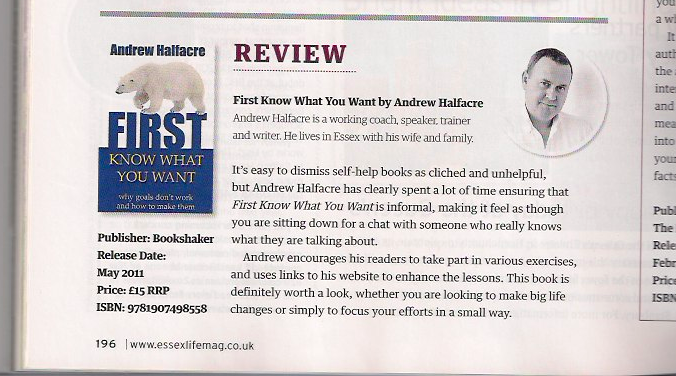 book review in Essex Life magazine